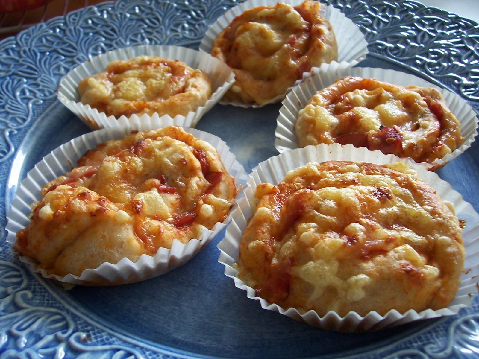 Pizzabullar med skinka