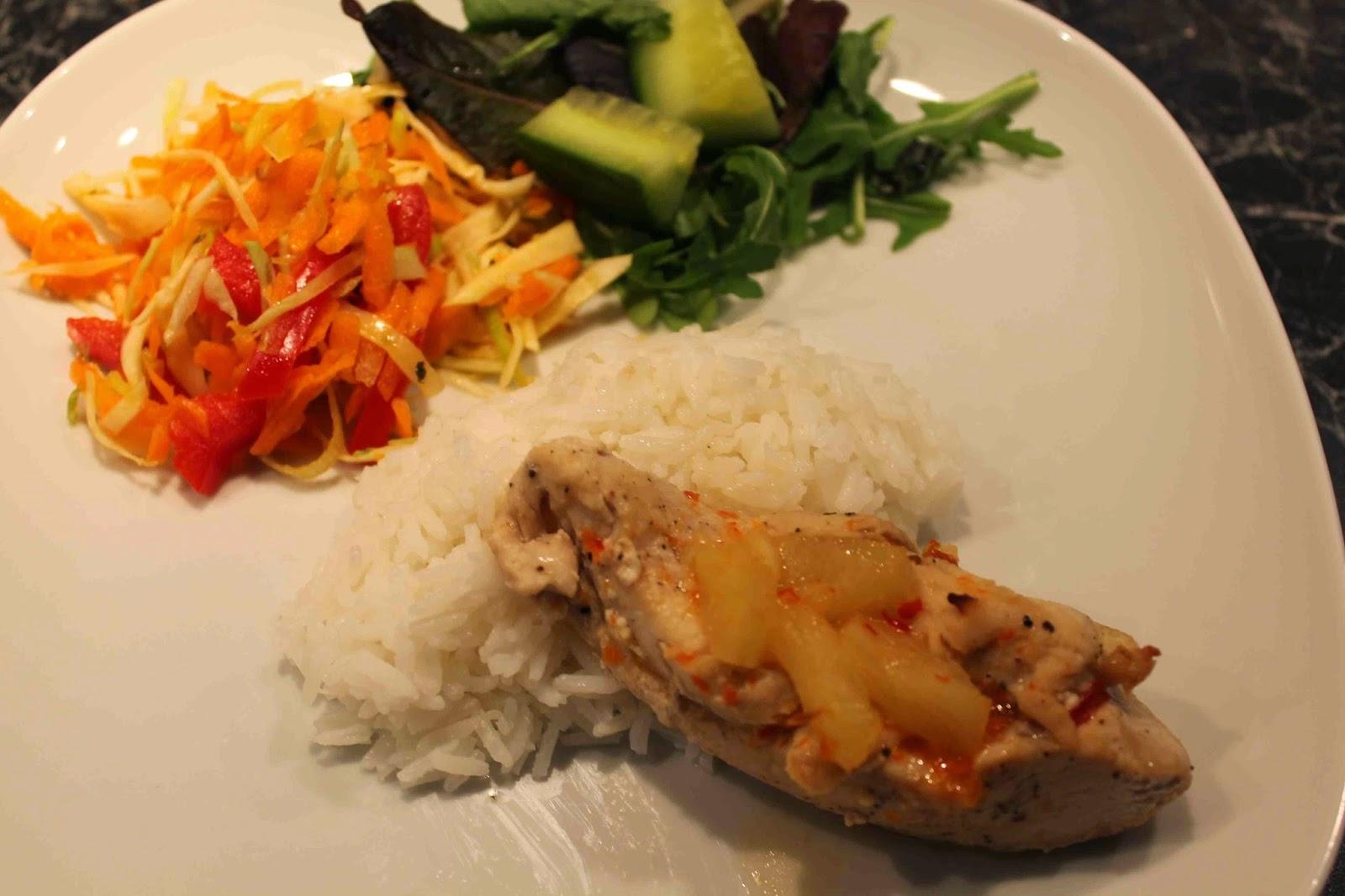 Kyckling med ananas och chili VV