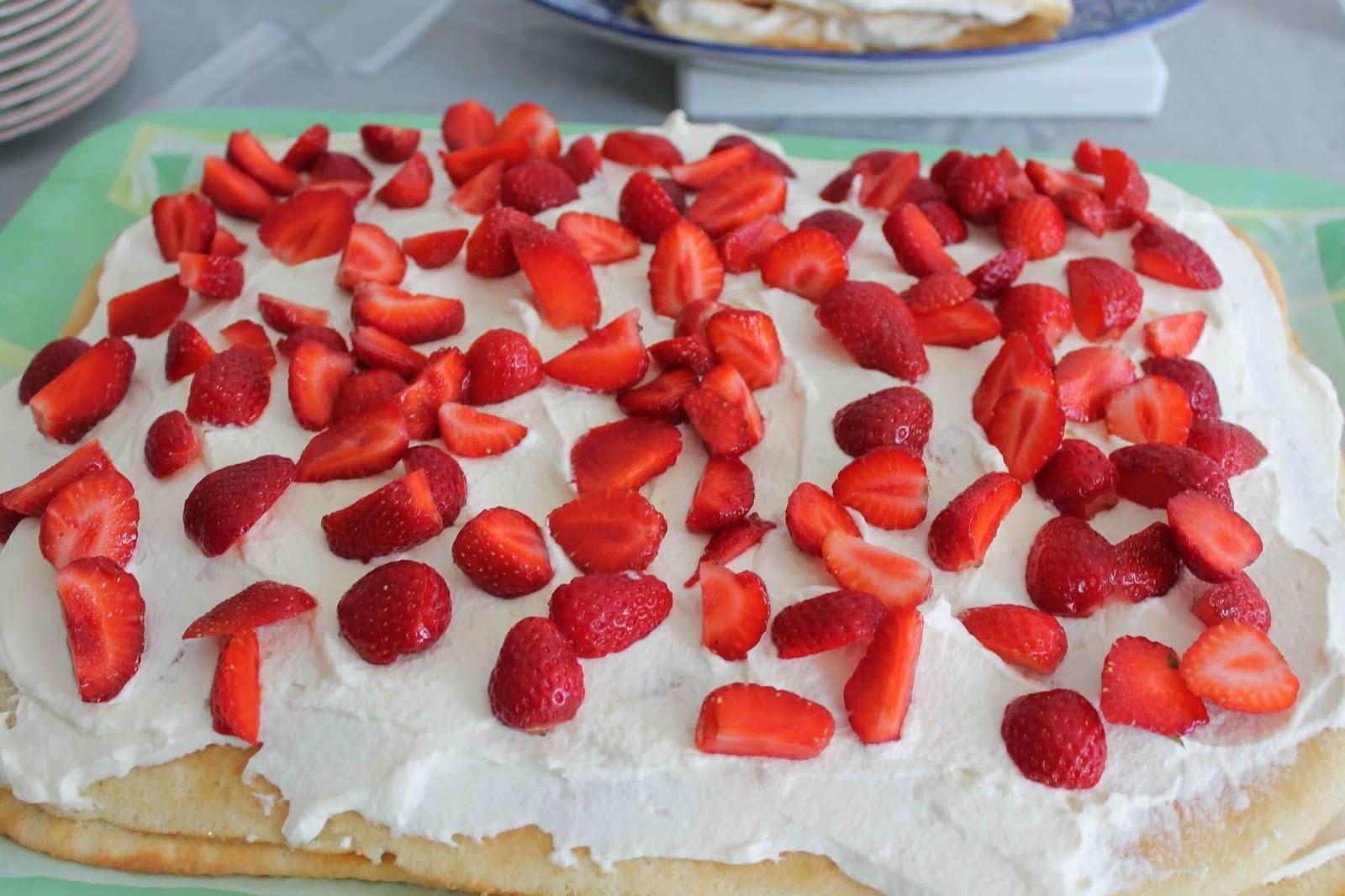 Rulltårtsbotten till tårta