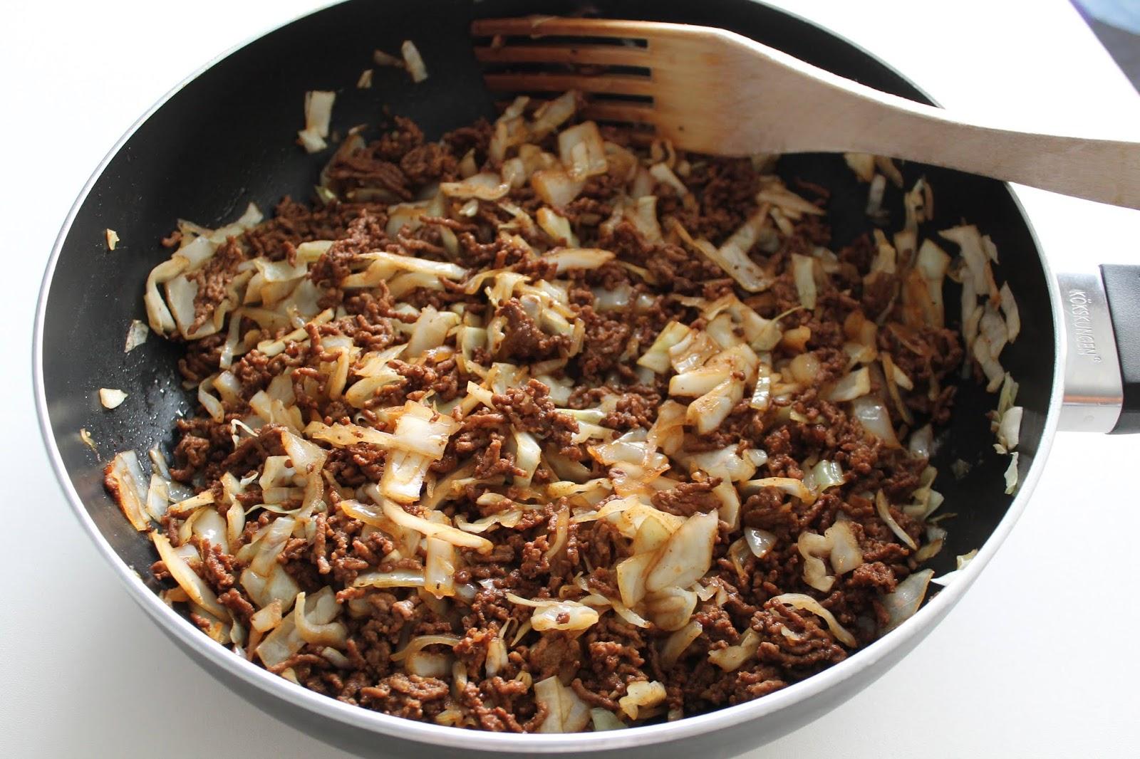 Kål o köttfärs med soja