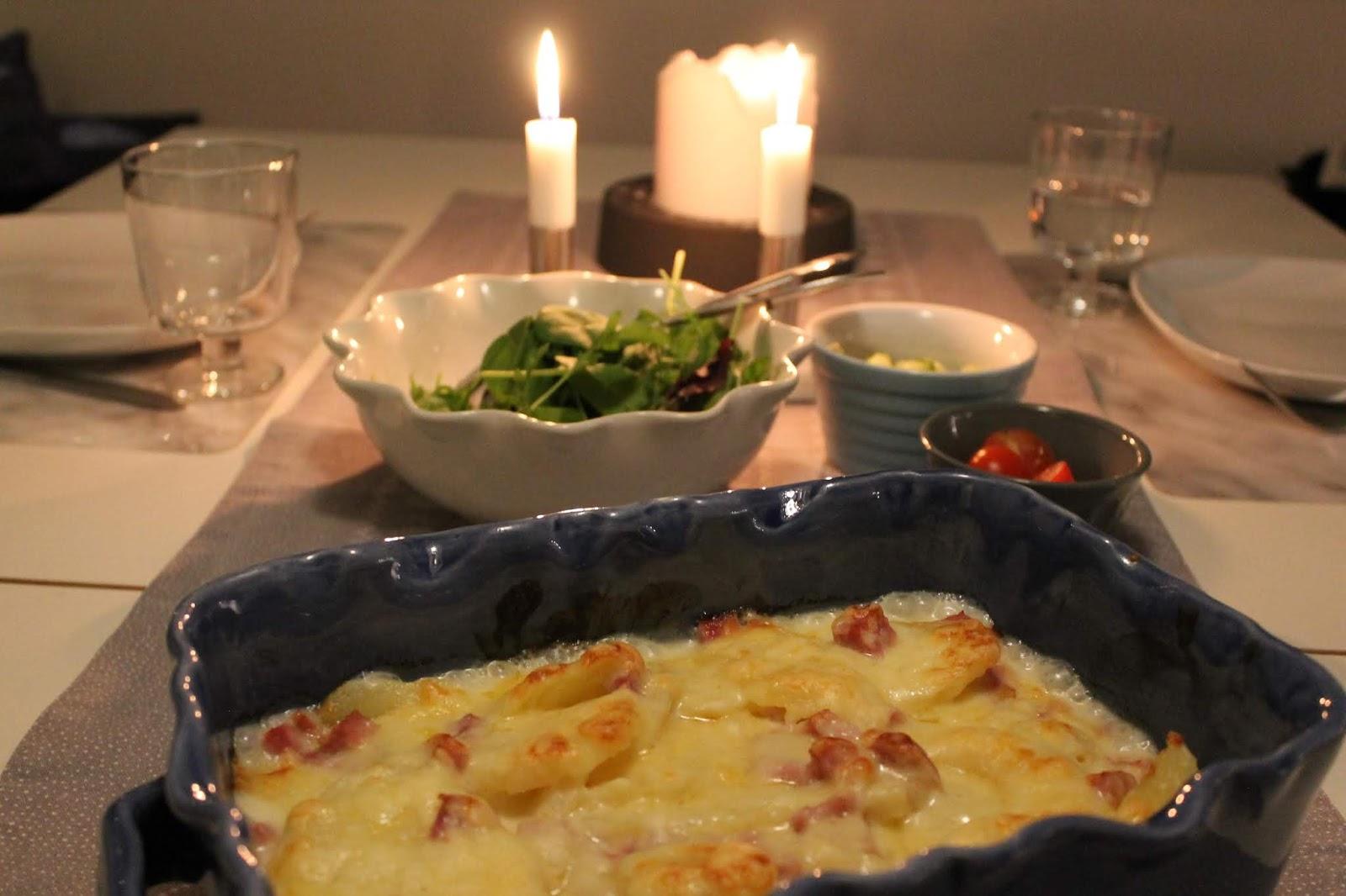 Potatis- och skinkgratäng – snabbmat