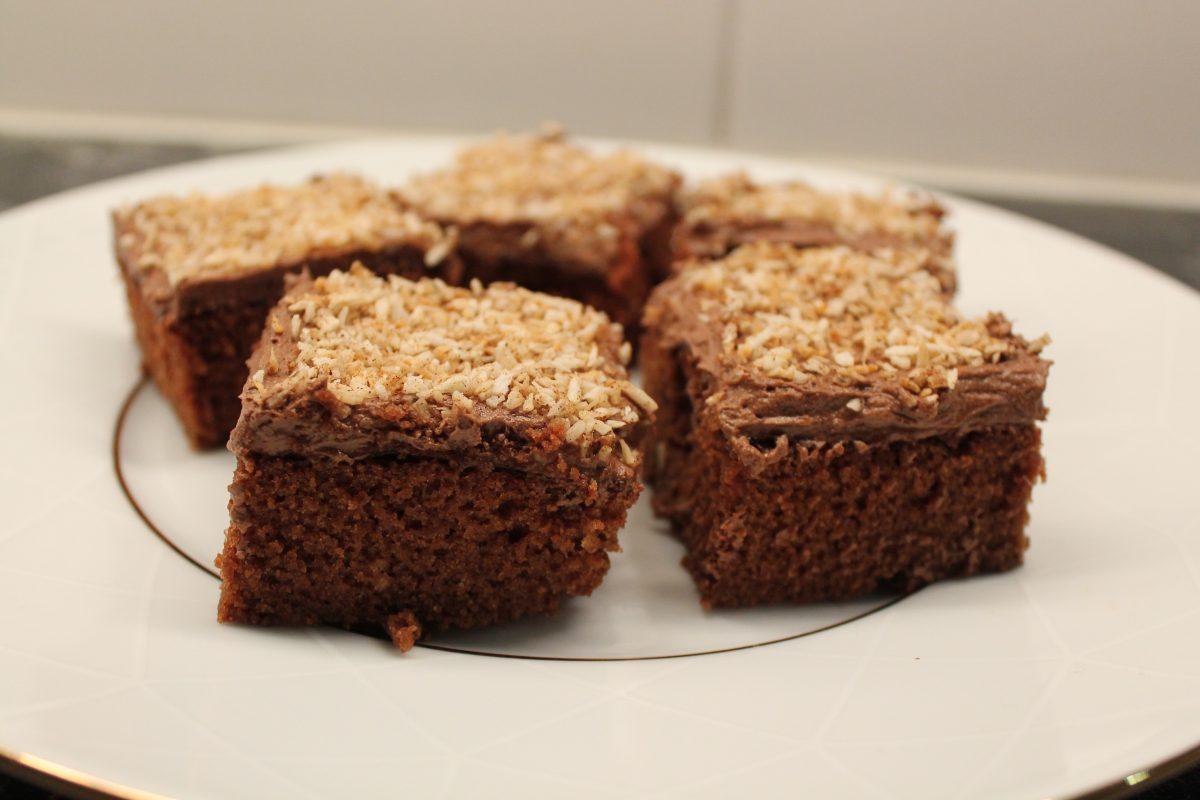 Chokladkaka med pepparkaksfrosting
