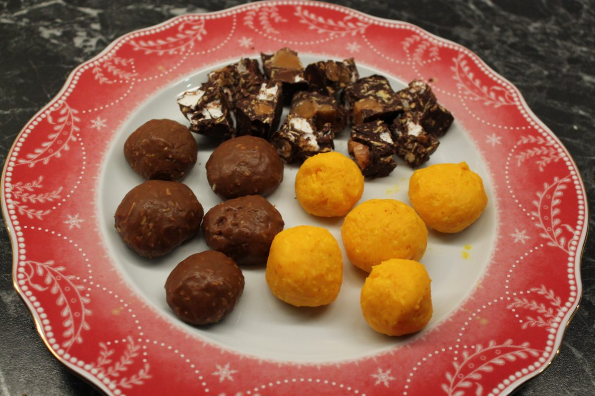 Saffranskokosbollar med choklad